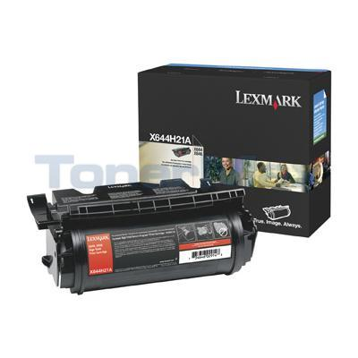 LEXMARK X644E PRINT CART BLACK 21K